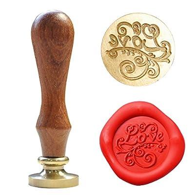 UNIQOOO Arts and Crafts Fashion Romantic Love Symbol Wedding Invitation Wax Seal Stamp & Gift Set