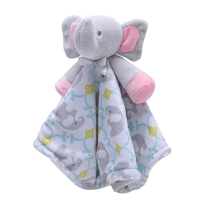 Manta de seguridad para bebé, suave toalla de toalla de atención con animales de peluche para bebé,Doudou bebé Peluche Mantitas de arrullo Manta de ...
