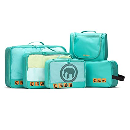 b2203a3e013d Amazon.com: Sarazong Packing Cubes,Set of 5 Luggage Organisers ...