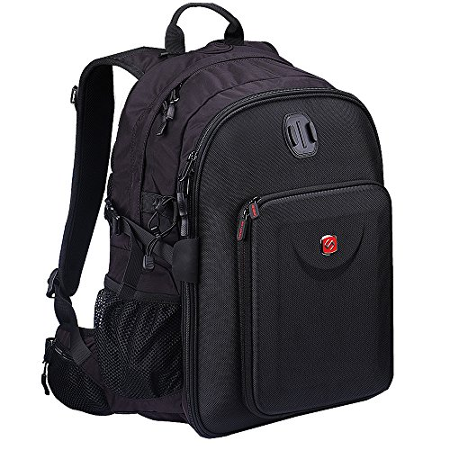 Smatree SmaPac GP2000 Multi-function Backpack for One 15''laptop,1 tablet,for 2 Gopro Hero 5,4,3,3+,2, hero 5 Session/Hero Session,Red-brown