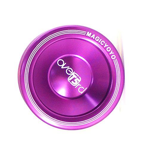 T5 Overlord Purple MAGICYOYO New Fashion Aluminum Smoothless Professional Yoyo
