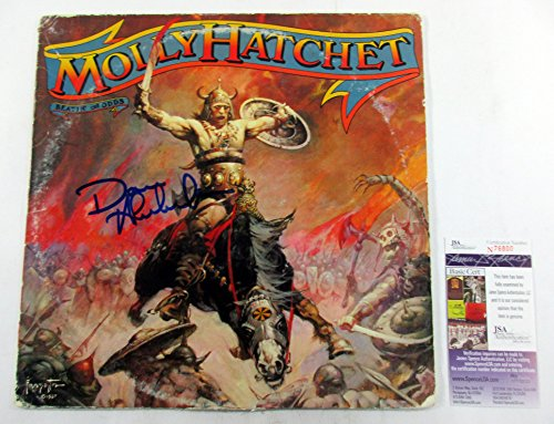 dave-hlubek-signed-lp-record-album-molly-hatchet-beatin-the-odds-w-jsa-auto
