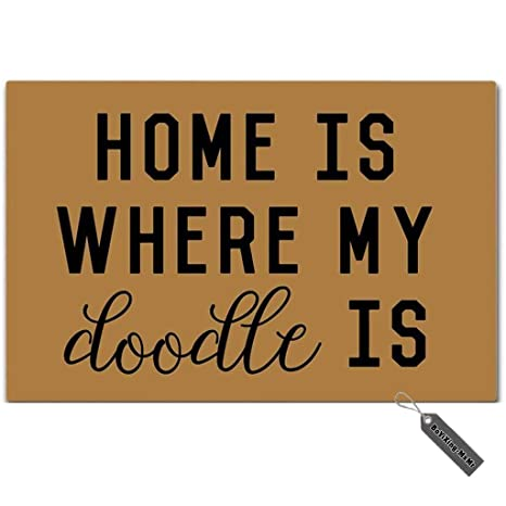 Amazoncom Msmr Doormat Funny Doormat Home Is Where My