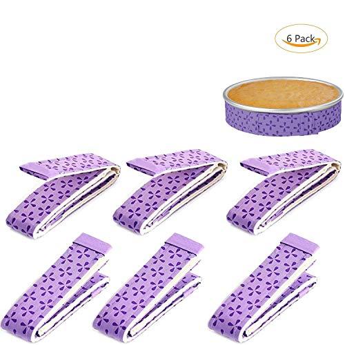 6-Piece Bake Even Strip,Cake Pan Strips,Super Absorbent Thick Cotton,Cake Strips for Baking,Cake Pan Strips]()