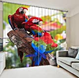 GYMNLJY 3D stereo animal curtain Home Decor Print Fabric Washable Blackout Window Drapes , 1 , wide 2.64x high 2.13
