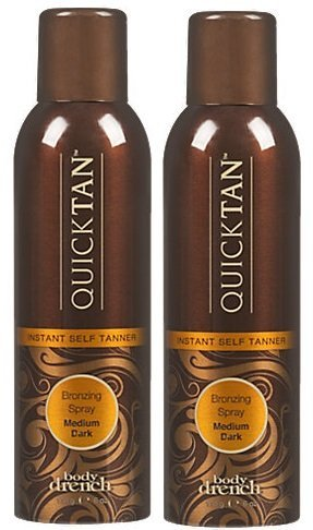 Body Drench Quick Tan Bronzing Spray Medium-Dark 6oz (2 Pack) by Body Drench