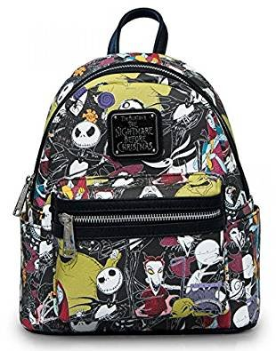 Loungefly The Nightmare Before Christmas Allover Print Character Mini Backpack ()