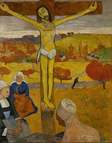 $50-$4000 Hand Painted Art Paintings by College Teachers - Le Christ Jaune Paul Gauguin The Yellow Christ Oil Painting Reproduction - Wall Decor Canvas Old Famous Works -Size09