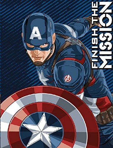 Captain America Micro Raschel Blanket - Thicker Than Fleece Throw ~ The First Avenger America Polyester Fleece