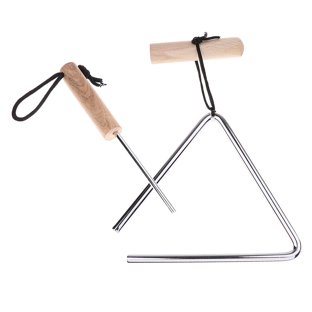 Homyl Novelty Stainless Steel Triangle Instrument with Beater Striker for Church School Club Singing Accessory - 5inch by Homyl (Image #6)