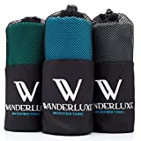 Wanderluxe Microfiber Travel Towel XL / Swimming Towel Set | Super Absorbent and Fast Drying | Bath Towel (60