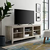 Home Accent Furnishings New 70 Inch Wide Television Stand in White Oak Finish