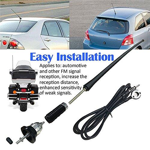 LinkStyle 16 9 Inch Car FM AM Radio Antenna, Flexible Mast