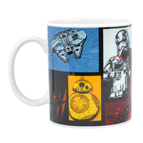 Star Wars Episode 7 Retro Tasse 312 - Millenium Falcon bb-8 Captain Phasma