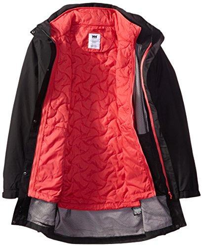 Helly Hansen W Bellevue Cis Coat - Chaqueta para mujer, color negro / rojo, talla XL Negro / Rojo