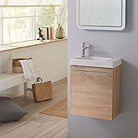 Pack meuble lave-mains Hamac couleur Chêne