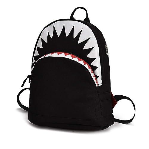 VHVCX Niños Modelo 3D Escuela Del Tiburón Bolsas Bolso De ...