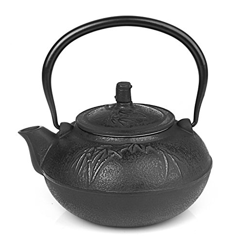 Japanese Cast Iron Tea Pot Black (47 oz 1400ZY)