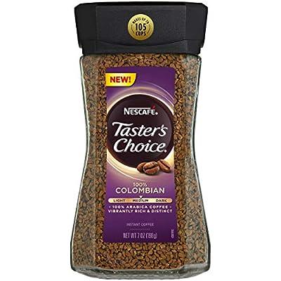 Nescafe Taster's Choice 100% Colombian Medium Roast Instant Coffee, 100% Colombian Medium Roast, 4Count by Nestle