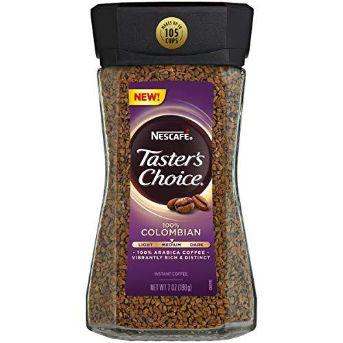 (Nescafe Taster's Choice 100% Colombian Medium Roast Instant Coffee, 100% Colombian Medium Roast, 4Count)