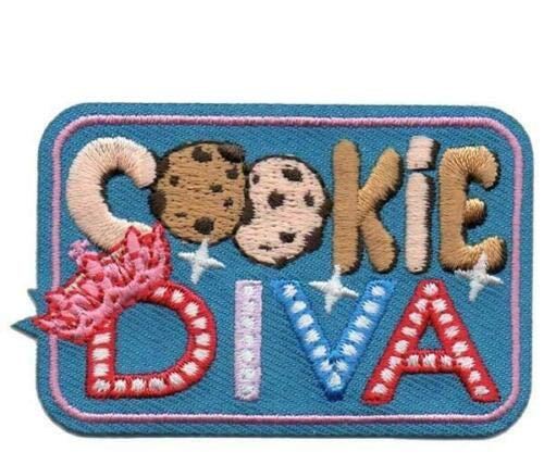 - 2Pc Girl Cookie Diva Crown Seller Daisy Brownie Patches Crests Badges Scout Guide