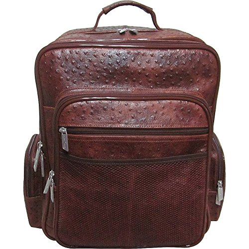 amerileather-ceo-leather-backpack-brown-ostrich-print