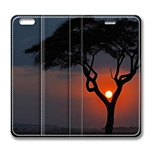 iPhone 6 Plus Case, Fashion Protective PU Leather Flip Case [Stand Feature] Cover Beautiful Sunset Scenery for New Apple iPhone 6(5.5 inch) Plus