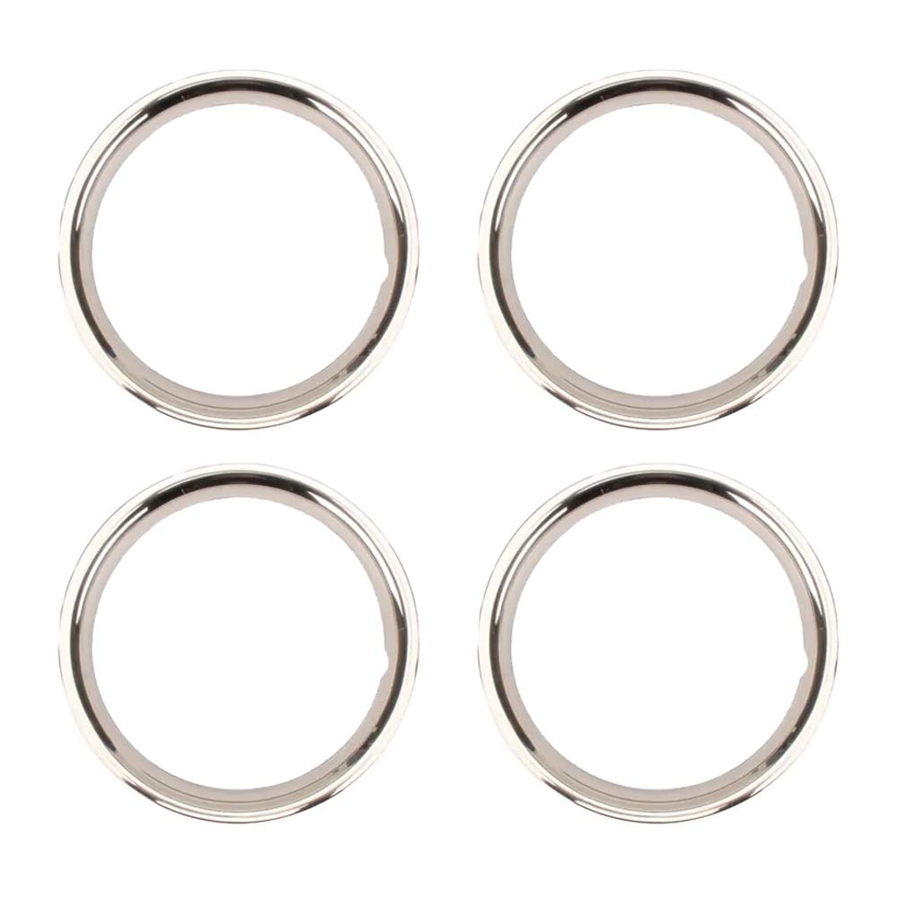 Stainless Steel Beauty Ring, 15 Inch Rally Wheel, 2 Inch - 4 PK by Speedway Motors