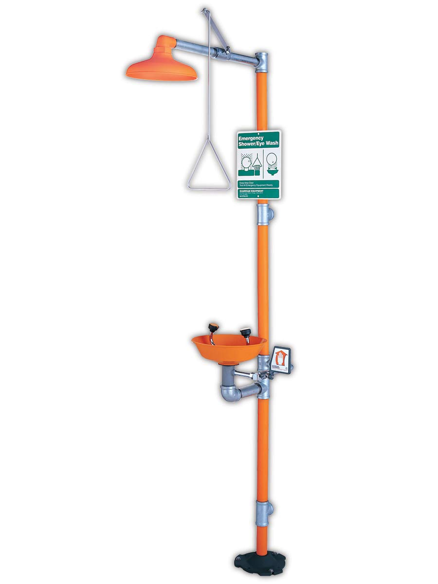 Guardian Equipment G1902P Combination Showers, hand operated, ABS plastic