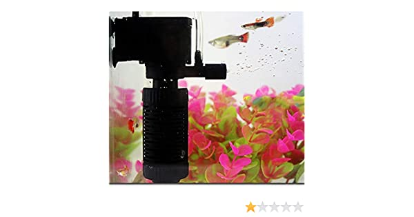 Amazon.com : SHJNHAN Aquarium Water Filter, 3in1 Aquarium Internal Filter Oxygen Submersible Water Pump for Fish Tank Pond (Black) : Pet Supplies