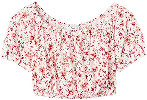 Top FIND Multicolore Cropped Donna Print Ivory Orange daaSqwxfv