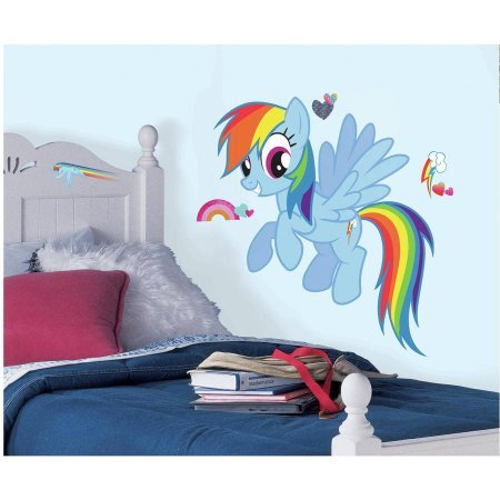 Rainbow Dash Peel and Stick Giant Wall Decals WLM (Rainbow Dash Wall)