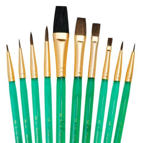 (Quality Sets Of 10 Brushes SVP3 - Sable/Camel Round & Shaders by Royal & Langnickel)