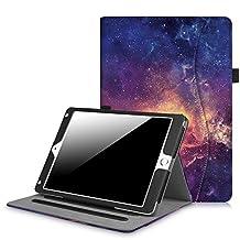 Fintie New iPad 9.7 Inch 2017 / iPad Air 2 / iPad Air Case - [Corner Protection] Multi-Angle Viewing Folio Stand Cover w/ Pocket, Auto Wake / Sleep for Apple iPad 2017 Model, iPad Air 1 2 (Z-Galaxy)