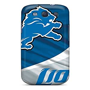 Great Hard Phone Cover For Samsung Galaxy S3 (gwK11386Hvcq) Support Personal Customs Attractive Detroit Lions Series