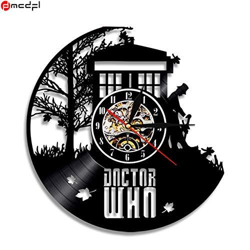 Price comparison product image Kamas Doctor Who Vinyl Record 3D Wall Clock Modern Design Duvar Saati Decorative Sticker Reloj Pared - (Color: 10)