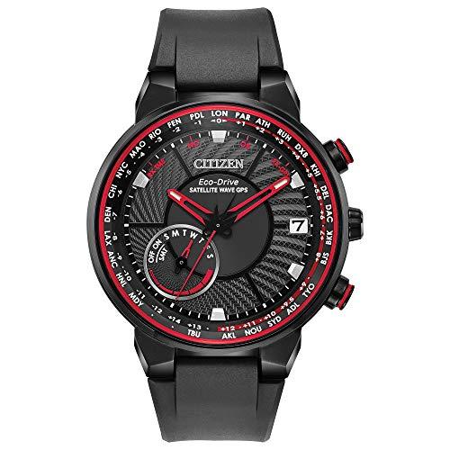 - Citizen CC3039-08E Men's Satellite Wave GPS Black Strap Watch