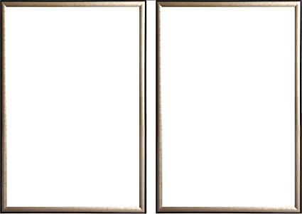 Amazon.com - Two(2) Wood Metallic Gold Finish Poster Frame 24x36 or ...