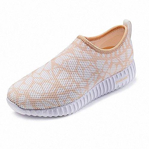 Laufschuhe Laufschuhe Gold mit Light Sportschuhe Damen Sneaker Air onemix Luftpolster 857xwT1