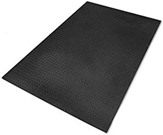 product image for SuperMats Ultimats Rubber Mat for Weightlifting Equipment, 4' x 6', Black