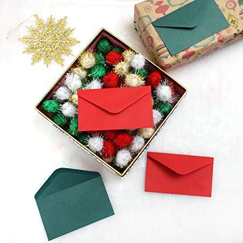 10 pieces Ornement pendent en forme de cartes de Noel et l/'enveloppe pour la 1X