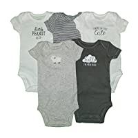 Carter's Baby Boys' 5 Pack Bodysuits (Baby) - Little Lamb Mix NB