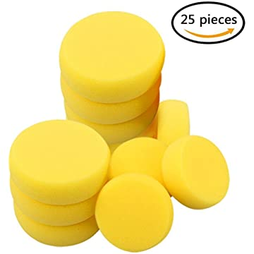 Outus 12 Pack Painting Sponge Synthetic Artist Sponges Watercolor Sponges for Painting Pottery and More Crafts
