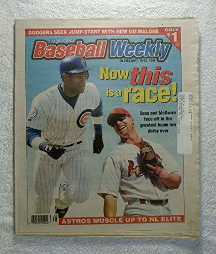 Sammy Sosa Home Run Derby - Mark McGwire & Sammy Sosa - Baseball Weekly Magazine - September 16, 1998