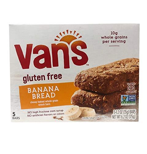 - Van's Gluten Free Simply Delicious Whole Grain 5 Snack Bars 1 Box (Banana Bread)