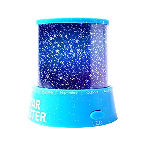 Aeeque LED Star Projector Night Light Amazing Lamp Master for Kids Bedroom Home Decoration(with USB Cable), Blue