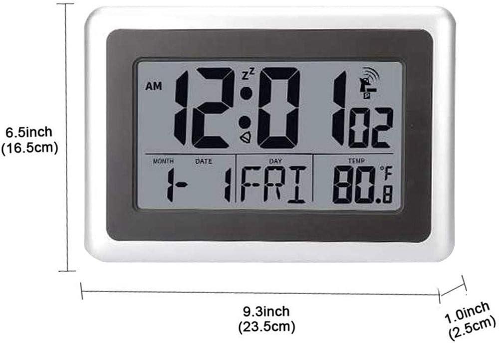 Indoor Temp /& Calendar ~ Compact! Sharp Digital Alarm Clock with Blue Display