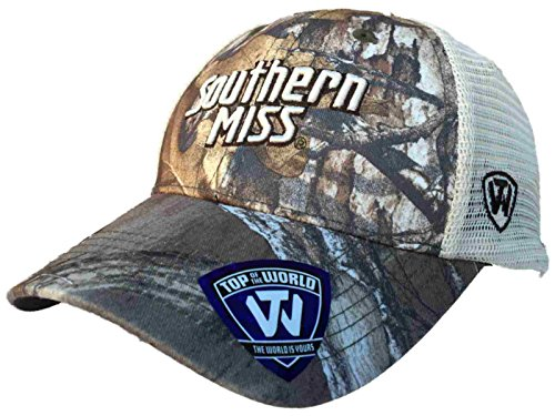 Top of the World Southern Miss Golden Eagles Tow Camo Mesh Prey Adjustable Snapback Hat Cap