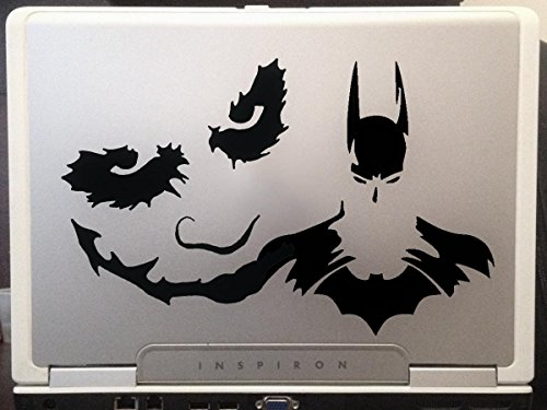 LA DECAL Batman Joker superhero cartoon artwork animation halloween car truck laptop macbook decal sticker 7 inches black]()