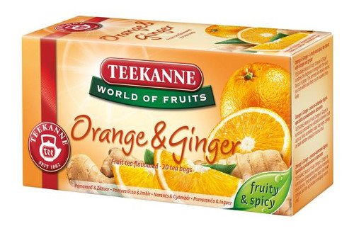 Teekanne Orange & Ginger 20 Tea Bags (Pack of 3)